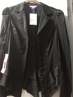 33f80c341 Betsey Johnson NWT SZ 10 Black Ruffle Edge Jacket. Great jacket - comes  with extra