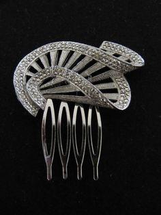 Vintage 1920s Art Deco wedding bridal hair comb wedding hair accessories Downton Abbey  Ask a Question $90.00 USD
