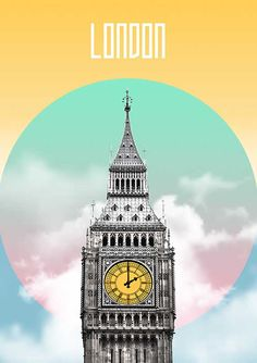 London Poster Prints Big Ben Skyline Wall Art by PrintsProject