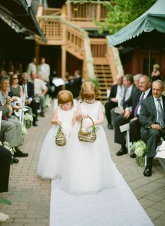Flower girls: http://www.stylemepretty.com/illinois-weddings/south-barrington/2014/10/03/1920s-inspired-diy-backyard-wedding/ | Photography: Yazy Jo - http://www.yazyjo.com/