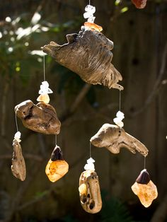 Driftwood Mobile Sun Catcher Kinetic Art Wood by WoodintheWind, 94.00$