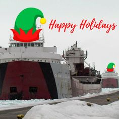 Merry Christmas and Happy Holidays from Sault Ste. Marie, Michigan! Join us here to experience history, fun-filled events, and the Soo Locks.