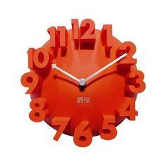 Zegar ścienny JVD, H89.2 , pomarańczowy | sklep PrezentBox - akcesoria, zegary ścienne, prezenty