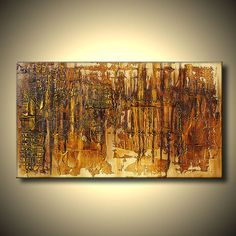 Precious Original abstract painting Golden by DejavuArtGallery, $350.00