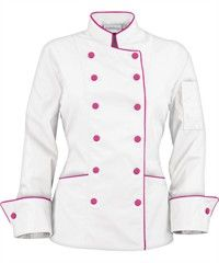 love this chef coat, i want ! Restaurant Uniforms, Work Uniforms, Uniform Design, Coats For Women, Work Wear, Chef Jackets, Chef Coats, Stylish, My Style