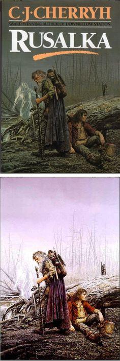 KEITH PARKINSON - Rusalka by C. J. Cherryh - 1990 Del Rey / Ballantine - cover by isfdb - print by fantasygallery.net