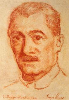 Self-portrait, Albin Egger-Lienz Art Nouveau, William Johnson, Franz Marc, Victorian Life, Fauvism, Museum, Wassily Kandinsky, Impressionism, Hero