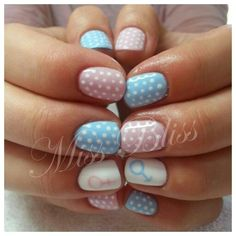 Baby Shower Gel Nails by Miss Bliss Nails and Education Christchurch