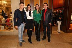Rodrigo Faro, Vera Viel, Luciana Cardoso e Faustão (Foto: Manuela Scarpa/Photo Rio News)
