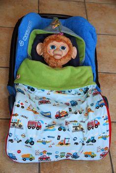Decke für Babyschale nähen - Maxicosi deken volledig afritsbaar