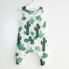 Cactus & Prickly Pears baby romper,toddler romper,kids romper,romper,organic romper,baby clothes,organic baby clothes,organic cotton,hipster