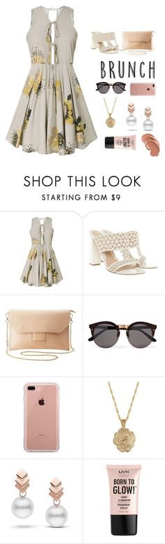 """""""Mother's Day Brunch"""" by grace-granger on Polyvore featuring Alexander McQueen, Charlotte Russe, Illesteva, Belkin, 2028, Escalier, NYX, contest, contestentry and brunchgoals"""