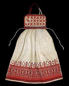 Россия.Фартук праздничный.Лен,вышивка.Вторая половина 19 века