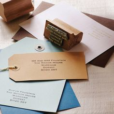 Personalised Address Stamp by English Stamp