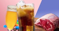 You'll pocket the most cash by ditching meat. Cocktails, Drinks, Pint Glass, Food And Drink, Alcohol, Pocket, Meat, Tableware, Craft Cocktails