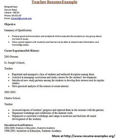 for more and various education resume examples visit wwwresume examplesorg