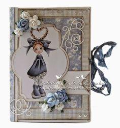 Cardville- Cards by Elizabeth: Mini Smash book- GDT Ett Trykk ~ Copics used: Skin: E13-11-21-000, R20 Hair: E29-25-21 Clothes: BV29-25-23-21, W7 Greys: W7-3-1-00.