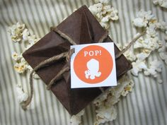 DIY origami pop-up popcorn bags / cards