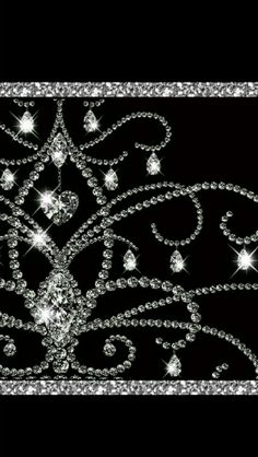 Basic Black & Silver Sparkly Wallpaper...By Artist Unknown...