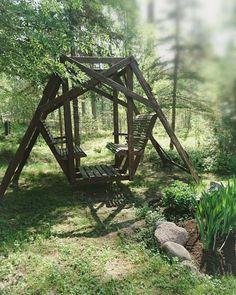 Pihakeinu, kesä, puutarha, koti Koti, Outdoor Furniture, Outdoor Decor, Park, Home Decor, Decoration Home, Room Decor, Parks, Home Interior Design