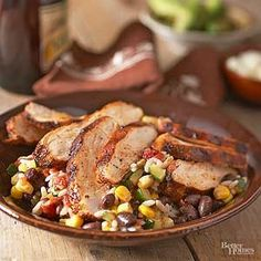 Step up your typical grilled chicken breast recipe. Our Spicy Grilled Chicken with Baja Black Beans and Rice recipe is a quick and easy grilled chicken recipe that incorporates uniquely blended flavors for your marinade and is complimented by our special baja black beans and rice recipe.
