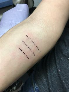 Love you Dad in Morse Code