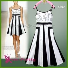 Vogue Black and White Party Dress summer-dresses-by-ever-pretty