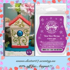 Warmer & Scent of the Month August 2013!