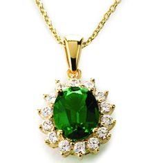 emerald necklace but in white gold