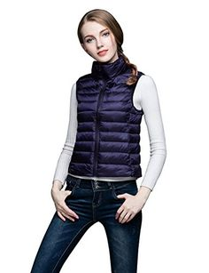 ADAMARIS Vests for Women Fashion Lightweight Women Casual Down Vest Jacket White Packable * Learn more by visiting the image link. (This is an affiliate link)