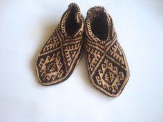 Mens slippers Caramel Turkish Socks knitted mens by AnatoliaDreams