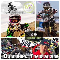 Meet our next #mxzen #featured #rider Diesel the Midwest #ripper Thomas #524. He rides a Cobra 50 and a Cobra 65.  One of my best races ever that stands out the most is when I was racing at Bar2bar and I crashed at the start was in dead last and came back to win it within 3 laps. You can see it on YouTube under the Notorious Diesel Thomas at bar2bar. I started riding at home in the farm. Then went to a couple local races. Did very well so started traveling and winning most all my races. So…