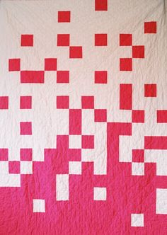 "Fun ""Pixel Quilt"" by the Creative Chicks. (The back of this one has some really fun fabric too!)"