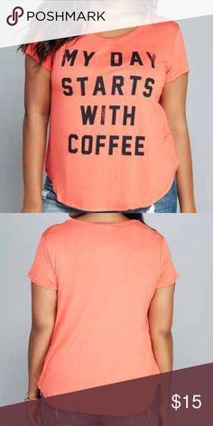 Coffee Graphic tee 💕💕💕💕💕💕 💌Fast Shipping  🚭Smoke Free home  ✅Always Clean & Packaged Well 📦 Bundle To save more 💰 💳 I Consider All Reasonable Offers 💕 🚫Sorry No Trades New never used no tags Wet seal  Tops Tees - Short Sleeve