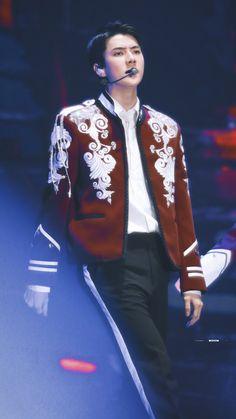 Sehun, Exo Kai, Kim Min Seok, Kris Wu, How To Look Better, Bomber Jacket, Photoshoot, Celebrities, Blouse