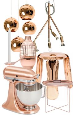 Trendenser - copper, beautiful, gorgeous, rich copper. especially the mixer and table. perfection