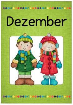 """Ideenreise: Monatsplakat """"December/Dezember"""""""
