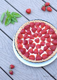 Strawberries and Cream Tart - Savory Simple