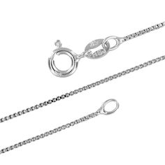 """1mm Italian Solid 925 STER Silver Diamond Cut DC 1+1 Bead Bar Chain Necklace 16/"""""""