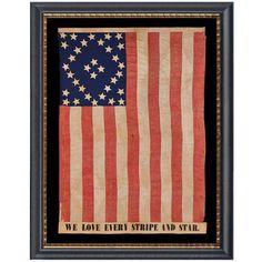 44th Indiana Infantry Civil War Regimental Battle Flag.