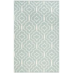 Safavieh Handwoven Moroccan Reversible Dhurrie Trellis-pattern Light Blue/ Ivory Wool Rug (6' x 9') | Overstock.com Shopping - The Best Deals on 5x8 - 6x9 Rugs