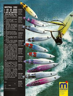 Windsurfing brochures & ads '80′s – early 2000′s (F2, Fanatic, Hi-Fly, Aquata, Bic, Magnum, Tornado, WindSpeed) part1 | Hitthewave