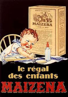 Alimentación infantil. Maizena 1925. Francés