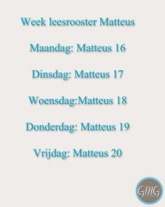 Good Morning Girls NEDERLAND: Matteüs 16-18