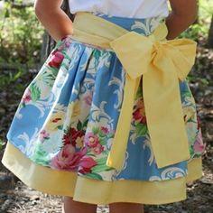 Kirstin's Skirt Pattern by Olabelhe Girls, baby, toddler ,E book, tutorial, PDF, downloadable, sewing pattern, easy, DIY, instant download, Spring, Easter, digital, e pattern, kids, sew, AllegroDigiPatterns,
