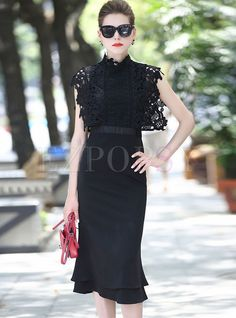 Shop for high quality Sexy Lace High Waist Black Bodycon Dress online at cheap prices and discover fashion at Ezpopsy.com