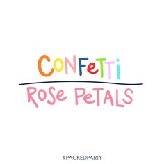 THROW CONFETTI! Even on your wedding day! Who needs rose petals when you could have a confetti filled wedding aisle... Talk about making a REAL BIG statement! #PackedParty #wedding #planning #confetti