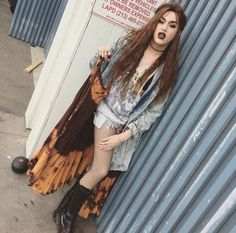 """Adore Delano, if you seen adore when she was younger used understand the dress sense, she isn't messy, or lazy, she's her and she's punk and it's true """"you can't crowd surf in a corset"""""""