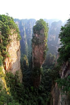 Location filming of Avatar  (Zhangjiajie, China) yes this place does in fact exist!