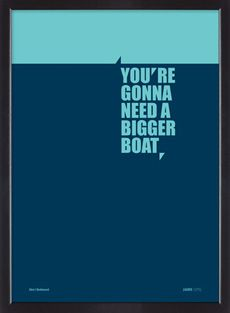 Jaws film quote limited edition silkscreen poster